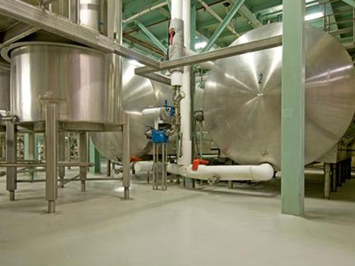 stonclad flooring in food processing facility